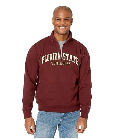 Champion College Florida State Seminoles Powerblend(r) 1/4 Zip (Maroon) Men
