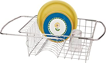 Better Houseware 1423 Stainless Steel Adjustable Over Sink Dish Drainer