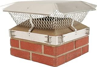HY-C 184B Duro Shield Single Flue Aluminum Band-Around Brick Chimney Cap, 21