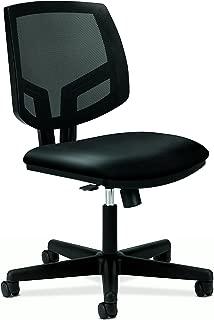 HON Volt Leather Task Chair - Mesh Back Computer Chair for Office Desk, Black (H5713)