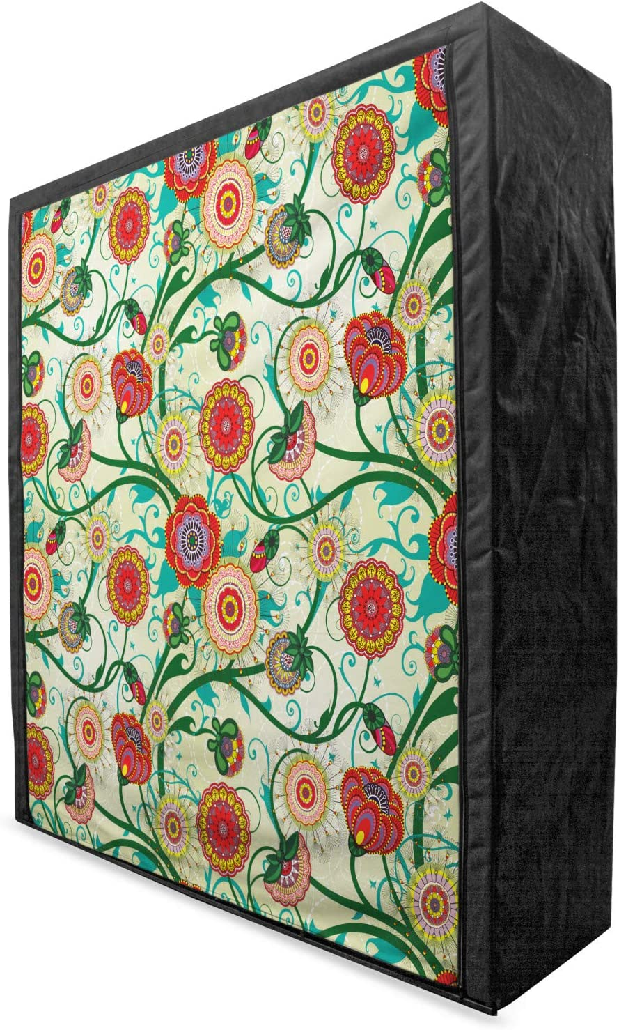 Max 43% OFF Ambesonne High material Floral Portable Fabric Oriental Inspirations Wardrobe