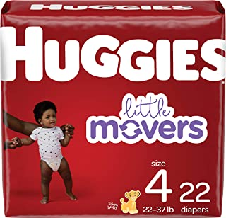 Huggies Little Movers Baby Diapers, Size 4, 22 Ct