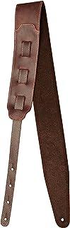 Shaman BJ2 - Correa de piel para guitarras y bajos eléctricos (ajustable de 128 cm a 149 cm, anchura: 7,5 cm), color marrón
