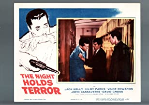 MOVIE POSTER: NIGHT HOLDS TERROR-1955-JACK KELLY-HILDY PARKS-FILM NOIR-DRAMA-LOBBY CARD VF