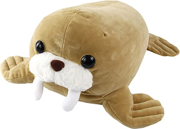 Athoinsu Squeezable Soft Walrus Squishy Seal Stuffed Animal Plush Pillow Pet Pad Gift For Kids On Holiday Birthday Christmas 17