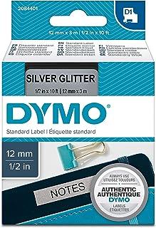 Dymo达美 D1 标签带 12 毫米 × 3.0M 黑色 – >银色