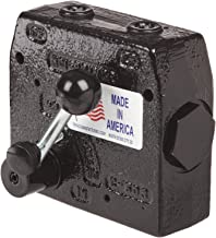 Prince Manufacturing RD-112-30 Pressure Compensated Adjustable Flow Control Valve, 0-30 GPM Range, 12 Port, Gloss Black