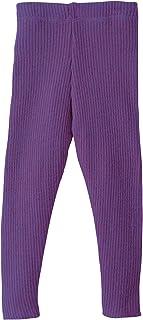 Disana Disana 33209XX - Strick-Leggings Wolle, Pflaume, 86/92