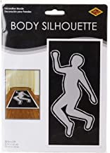 Beistle PSI Body Silhouette, 30 by 5-Feet,White/Black/Silver