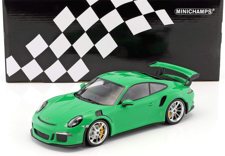 nuevo listado Minichamps Porsche Porsche Porsche 911 991GT3RS 2015Coche de ferroCocheril de Collection, 153066229, Viper verde  Disfruta de un 50% de descuento.