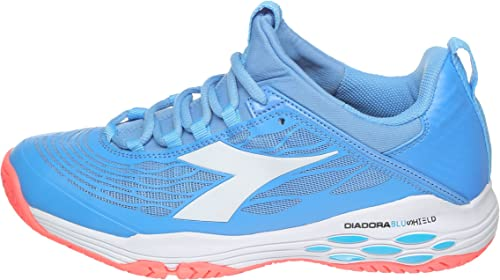 Diadora - Speed bleushield Fly AG Femmes Femmes Femmes Chaussure de Tennis (Bleu Corail) 758