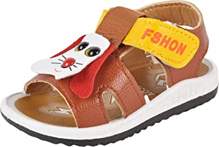 Yellow Bee Dog Design Sandals for Boys, Brown