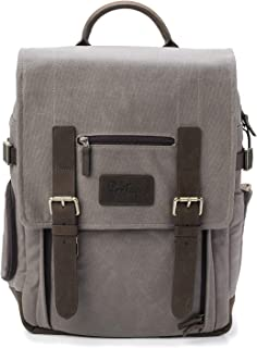 The Kenora Backpack Portage GEN4 W/Side Access! - Camera, Travel, Gear, Laptop Bag - Genuine Leather Waxed Canvas