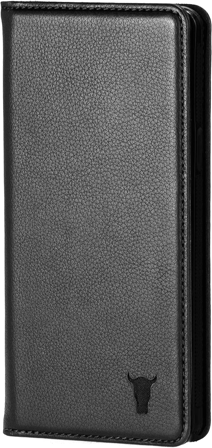 TORRO Cell Phone Case Compatible with Apple iPhone 11 Genuine Quality Leather Flip Cover with [Card Slots] [Horizontal Viewing Stand] [Durable Frame] 6.1 Inch 2019 Release (Black)
