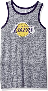 Outerstuff NBA NBA Youth Boys Los Angeles Lakers Baseline Tank, Grey, Youth Medium(10-12)