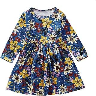 童装女婴连衣裙套装枫叶印花秋季连衣裙长袖衣服套装