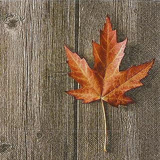 20 servetten enkele herfstblad/herfst/hout/esdoornblad 33x33cm