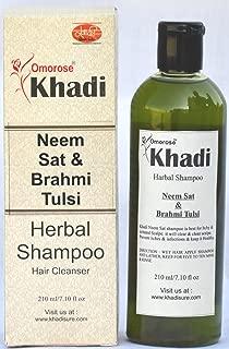 Khadi Neem Sat Bhrami Tulsi Shampoo (210 ml)