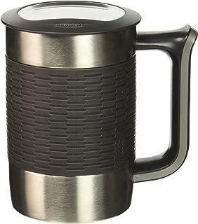 Trudeau 08715800 Boardroom II Desk Mug 16 oz, Charcoal, Grey