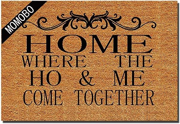 有趣的门垫定制室内门垫家居何美来家居和办公室装饰入口地毯花园厨房卧室防滑垫防滑橡胶 23 6X15 7 英寸