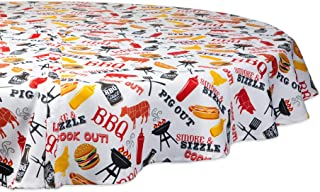 DII CAMZ11190 Spring & Summer Outdoor Tablecloth, Spill Proof and Waterproof with Zipper and Umbrella Hole, Host Backyard ...