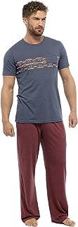 Tom Franks Men's Contrast Design Jersey Winter Pyjama Set