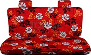 Totally Covers compatible with Ford F-150 SuperCab/SuperCrew Hawaiian Truck Seat Covers (Rear 60/40 Split Bench) w/wo Cent...