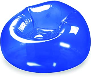 BloChair B&D Innovations Inflatable Chair Transparent Inflatable Chair, Blue, 40