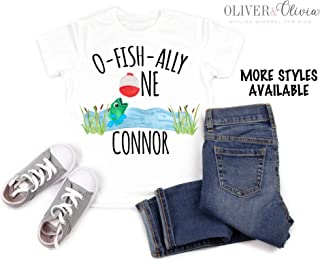 Custom Birthday Fishing Shirt 1st Birthday Fishing Shirt Fishing Theme Birthday Shirt Boys Fishing Shirt O-Fish-Ally One