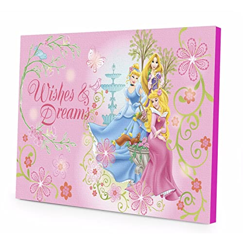744174663a61e Disney Princess LED Light Up Canvas Wall Art