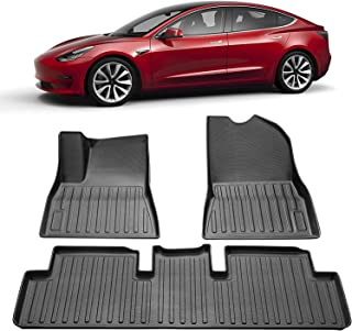 Top-Tech Car Floor Mats Compatible for 2019 2020 Tesla Model 3 Floor Mats Car Interior Accessories All Weather Protection ...