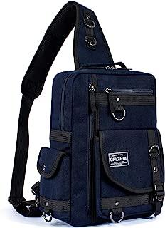 Leaper Messenger Bag Outdoor Cross Body Bag Sling Bag Shoulder Bag Dark Blue