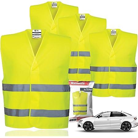 Chalecos de seguridad 4X Chaleco antipinchazos EN471 2021 Chaleco de accidentes, automóvil de pasajeros, chaleco de seguridad, chaleco reflectante amarillo neón para automóviles, automóviles, camiones