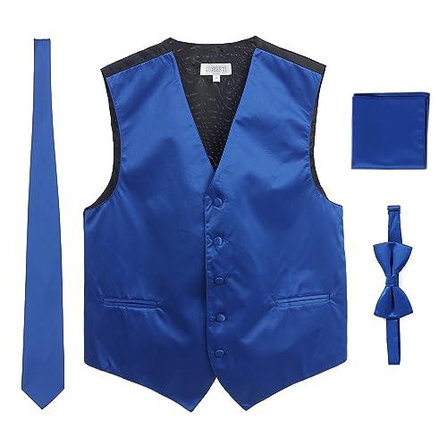 Tootless Mens Business Polka Dots Textured Set Necktie /& Pocket Square Set