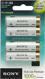 索尼 NHAAB4KN 循环能量 2000 毫安 预充电 AA 可再充电电池