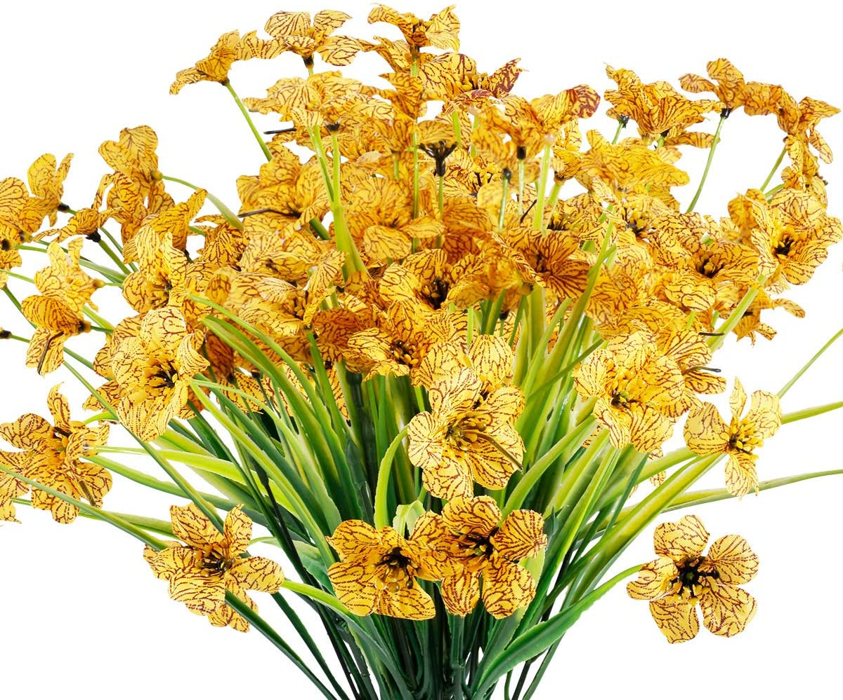 12 Sale SALE% OFF Bundles Artificial Flowers Alternative dealer Outdoor Resistant No Fa UV