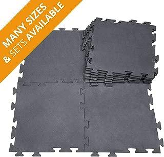 """Ergocell Rubber Horse Stall Mat – Rubber Interlocking Floor Tiles, Horse Mats & Dog Kennel Flooring   3/4"""" Thick Rubber Mats – 32"""" x 48"""""""