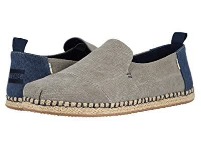 TOMS Deconstructed Alpargata Rope (Drizzle Grey Washed Canvas) Men