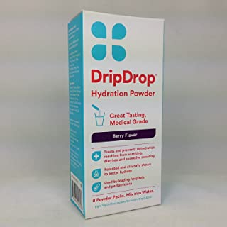 Drip Drop Hydration Powder Berry Flavor 8 Packets Per Box (4 Boxes)