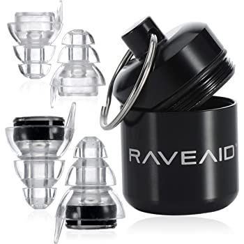 """RaveAid High Fidelity Earplugs - Concert Earplugs, for Musicians, Concerts, Motorcycle Riders, Rave Music, Festival, Acoustic Vibes - HiFi, Best Noise Reducing, Musician""""Earpeace"""", Noise Reduction"""