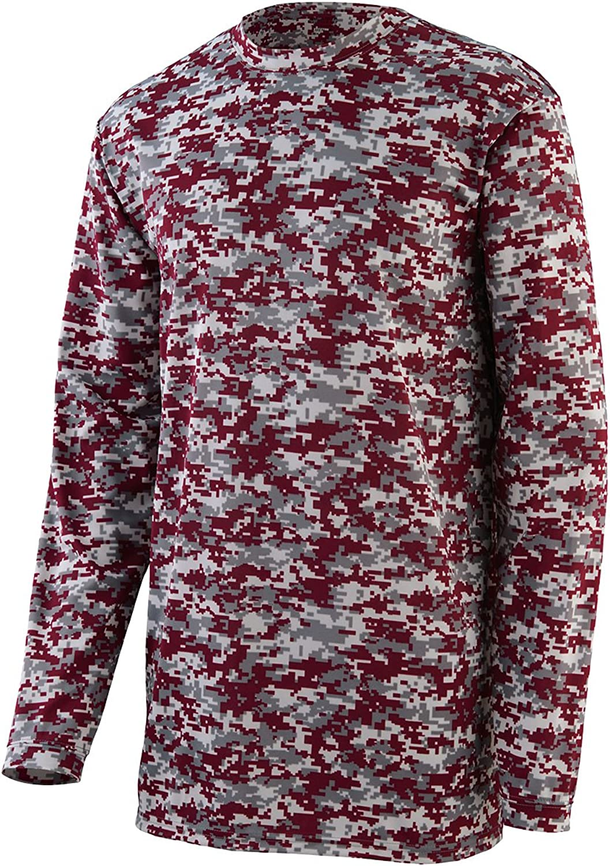2788 Digi Camo Wicking Long Sleeve Tshirt MAROON DIGI 2XL