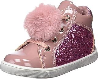 Botin Glitter con Pompon, Botas Slouch para Niñas