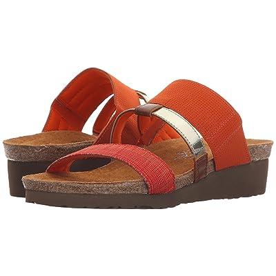 Naot Brenda (Orange Gore/Orange Fabric/Black/White Gore/Maple Brown Leather) Women