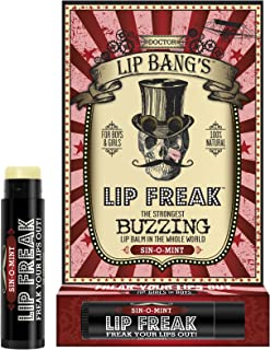 Doctor Lip Bang's Lip Freak Lip Balm   All Natural Buzzing Lip Balm - Sin-O-Mint, 0.15 oz