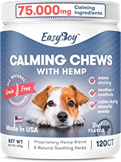 Dog Calming Treats for Dogs with Anxiety - Dog Anxiety Relief calming chews for dogs 120 Ct - Calming Dog Treats Helps wit...