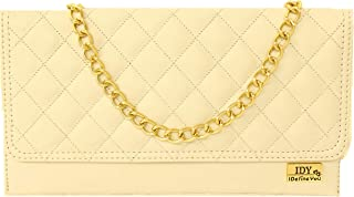 ANGLOPANGLO Ashley Cream Color Leatherette Sling and Clutch for Girls and Women