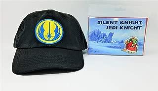 Disney Parks Star Wars Jedi Order Icon Logo Adult Baseball Cap with Star Wars Santa Yoda Christmas Card and Pin