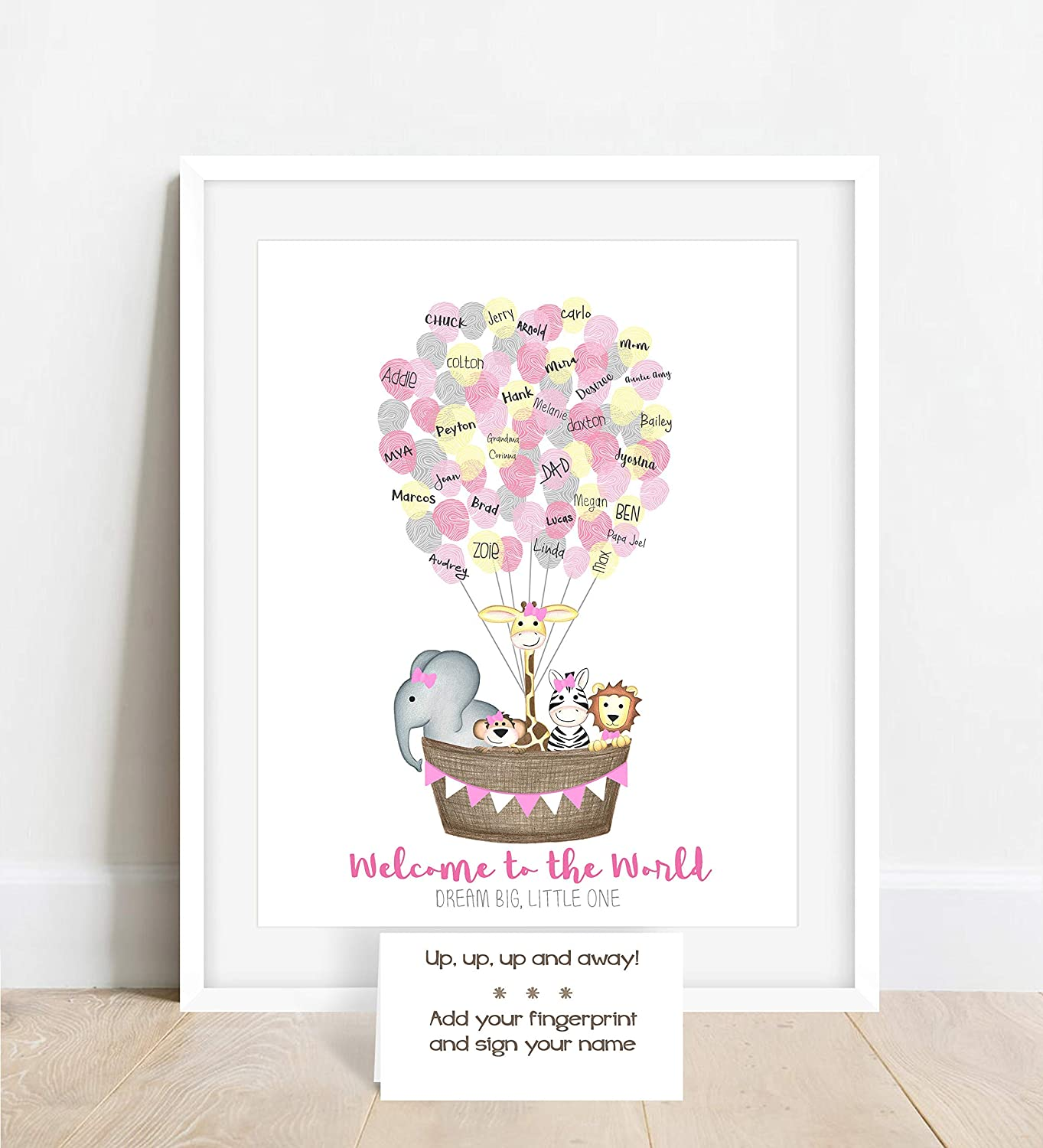 Personalized Max 87% OFF Girl's Fingerprint Poster Jungle Themed Bab Factory outlet