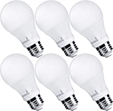 Hyperikon Dimmable LED Light Bulbs, A19 60 Watt Equivalent LED Bulbs, 9W, 2700K, E26 Base, UL, 6 Pack