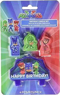 شموع بي جيه ماسكس لاعياد الميلاد من امسكان، بمقاس موحد، باللون الازرق، والاحمر، والاخضر